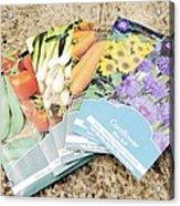 Seed Packs Acrylic Print