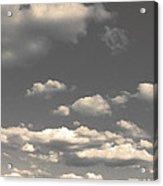 Selenium Clouds Acrylic Print