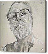 Self Portrait Acrylic Print by Peter Edward Green