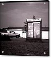 Self Service- Winnsboro Road- La Hwy 15 Acrylic Print