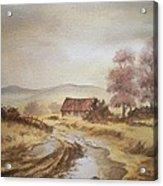 Selo Poslije Kise Acrylic Print