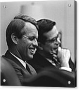 Sen. Robert Kennedy And Ted Sorenson Acrylic Print by Everett
