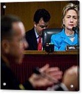 Senator Hillary Clinton A Member Acrylic Print by Everett