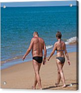 Senior Elderly  Lover Couple Acrylic Print