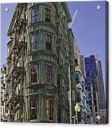 Sentinel Building - Columbus Tower American Zoetrope Acrylic Print by Tim Mulina