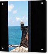Sentry Tower View Castillo San Felipe Del Morro San Juan Puerto Rico Acrylic Print