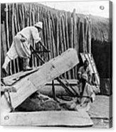 Seoul Korea - Men Sawing Lumber Acrylic Print
