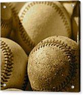 Sepia Baseballs Acrylic Print