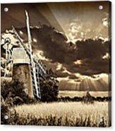 Sepia Sky Windmill Acrylic Print