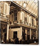 Sepia Toned Image Of Leadenhall Market London Acrylic Print