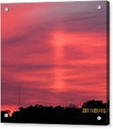 September 16 Sunrise Four Acrylic Print