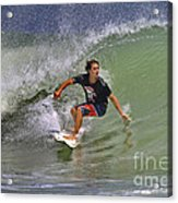 September Ponce Inlet Surfer Acrylic Print