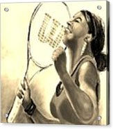 Serena In Sepia Acrylic Print
