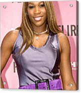 Serena Williams At The Press Conference Acrylic Print by Everett