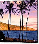 Serene Waimea Bay Acrylic Print