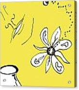 Serenity In Yellow Acrylic Print
