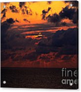 Setting Sun At South Beach Acrylic Print