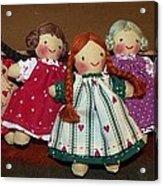 Seven Handmade Dolls Acrylic Print