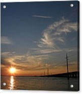 Seven Mile Bridge Sunset Acrylic Print