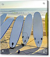 Seven Surfboards Acrylic Print