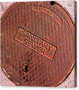 Sewer Cover Acrylic Print