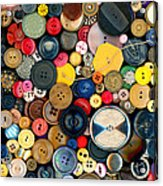 Sewing - Buttons - Bunch Of Buttons Acrylic Print