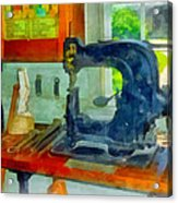 Sewing Machine In Harness Room Acrylic Print