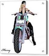 Sexy  Biker Acrylic Print