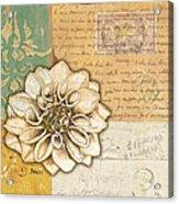 Shabby Chic Floral 1 Acrylic Print by Debbie DeWitt