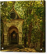 Shaded Chapel. Golden Green Series Acrylic Print