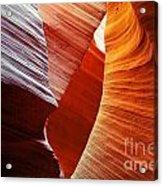 Shades Of Red - Antelope Canyon Az Acrylic Print
