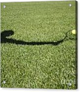 Shadow Playing Tennis Acrylic Print