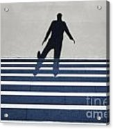 Shadow Walking The Stairs Acrylic Print