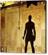 Shadow Wall Statue Acrylic Print