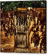 Shadowed Door Acrylic Print