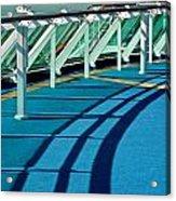 Shadows And Railings Acrylic Print