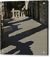Shadows Cast On The Porch Of Gillette Acrylic Print