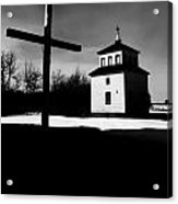 Shadows Of The Bell Tower Acrylic Print