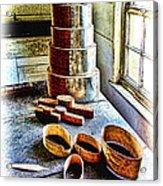 Shaker Box Making Vignette  Acrylic Print