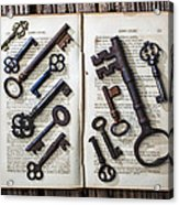 Shakspeare King Lear And Old Keys Acrylic Print