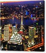 Shanghai Colour Blast Panorama Acrylic Print