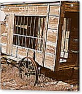 Shaniko Paddy Wagon Acrylic Print by Cindy Wright