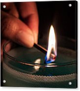 Sharing The Flame Acrylic Print