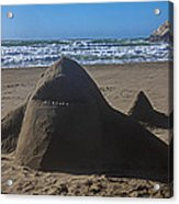 Shark Sand Sculpture Acrylic Print