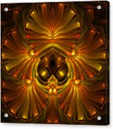 Shattered Five Leaf Clover Abstract Acrylic Print