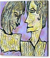 She And He Pen And Ink 2000 Digital Acrylic Print