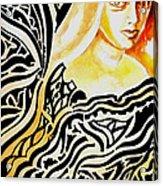 She Acrylic Print by Ayan  Ghoshal
