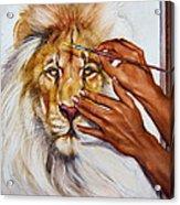 She Paints Him  Acrylic Print by Martin Katon