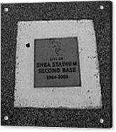 Shea Stadium Second Base Acrylic Print