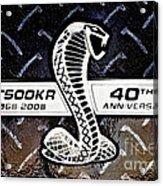 Shelby Logo Acrylic Print